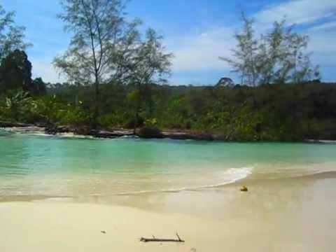 Deserted Beach on Koh Rong, Cambodia