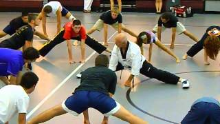 """Bill """"Superfoot"""" Wallace Basic Stretching and Side Thrust Kick"""