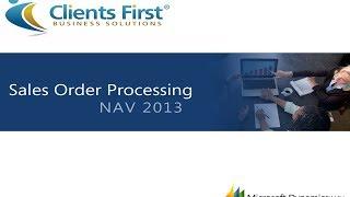 Microsoft Dynamics NAV 2013 Sales Order Processing Training Demo