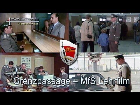 Grenzpassage ein MfS Lehrfilm (1980 Jahren)