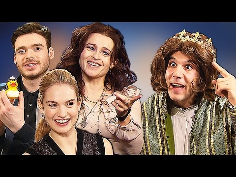 Game of Thrones vs Cinderella!? Richard Madden, Helena Bonham Carter, Lily James, Kenneth Branagh