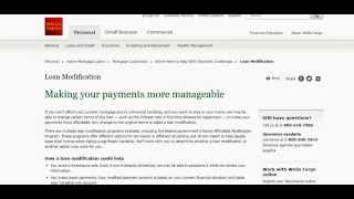Wells Fargo Loan Modification and Advance Online