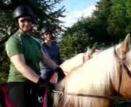 Ladies on a horse, canton Zug, Switzerland