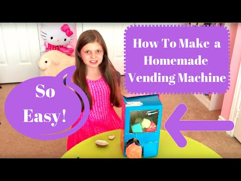 How To Make a Homemade Vending Machine. Vend squishies, candy and toys