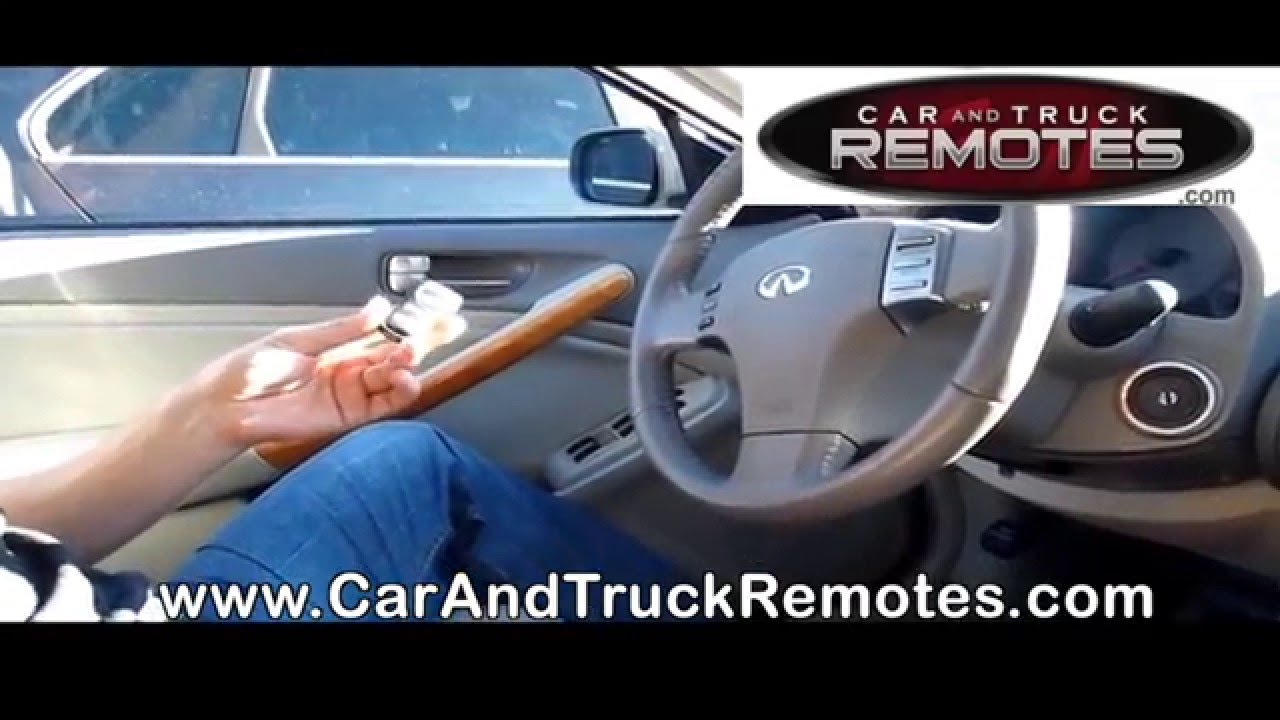 How to program infiniti i35 replacement remote keyfob how to program infiniti i35 replacement remote keyfob programming 2002 2004 vanachro Images