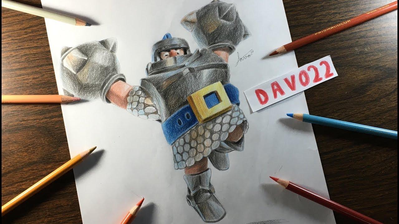 Como dibujar el megacaballero de Clash Royale / How to