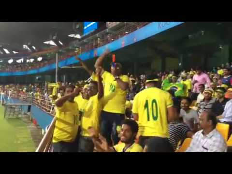 Brazil Fans in India | inside stadium | FIFA U-17 worldcup | 2017