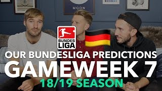 Bundesliga Tips - Gameweek 7 - 2018/2019