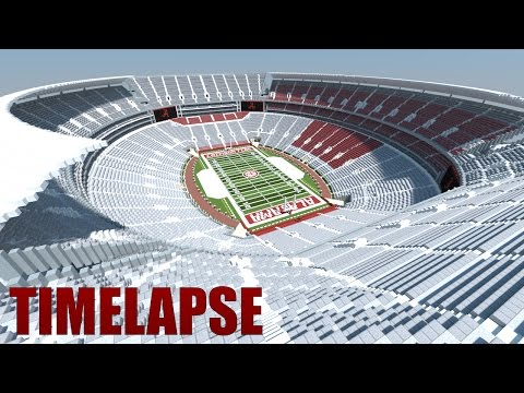 Minecraft - TIMELAPSE (Stands Only) - BRYANT DENNY STADIUM (Alabama Crimson Tide) [Official]