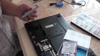 видео Замена жесткого диска/HDD ноутбука Самсунг-
