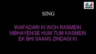 Jab Koi Baat Bigad Jaye   Karaoke(duet) For Male   Female Voice Of Sanya Shree