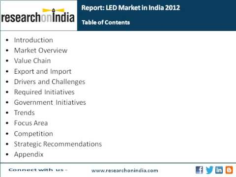 Market Research India : LED Market in India 2012