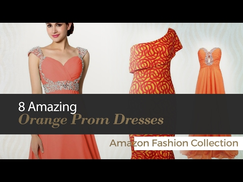 8 Amazing Orange Prom Dresses Amazon Fashion Collection