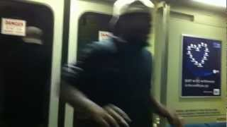 Bay Area Rapid Transit California, Bart subway train, guy beat-boxing 2012