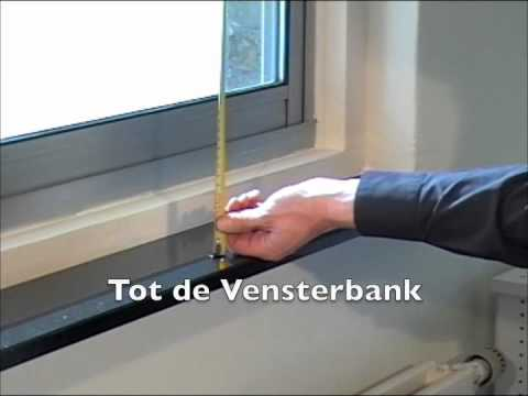 Meettips - gordijn op rail opmeten - YouTube