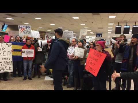 Salt Lake City Immigration Ban Rally, SLC International Airport, January 28, 2017