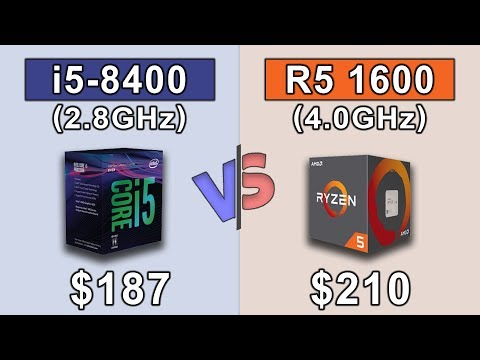 Intel Core i5 8400 (2.8GHz) vs RYZEN 5 1600 OC (4.0GHz) | 19 Games Benchmark