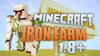 Minecraft 1.9 Survival Iron Farm EASY TUTORIAL