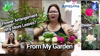 Floral Arrangement, Flowers From Own Garden. By Lola Malyn