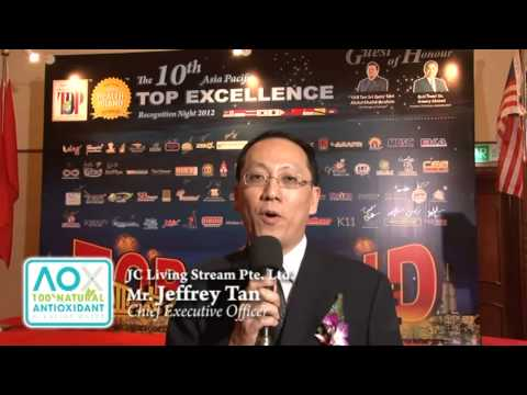 JC Living Stream Pte Ltd   10th Asia Pacific Excellence Brand International Certification Winners