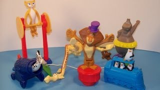 2012 MADAGASCAR 3 SET OF 6 McDONALD'S HAPPY MEAL MOVIE TOY'S VIDEO REVIEW(SUBSCRIBE TO FASTFOODTOYREVIEWS: http://bit.ly/SUBFFTR Get Your BBTS Exclusives and collectibles Here; ..., 2013-04-17T20:37:21.000Z)