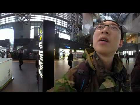 GOPRO FUSION: Street Photography 360 POV VIRTUAL REALITY: Shooting inside Kyoto Station