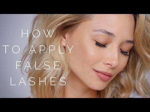 How To Apply False Eyelashes - Beginners Tutorial | Aja Dang