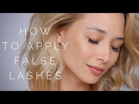 How To Apply False Eyelashes – Beginners Tutorial | Aja Dang