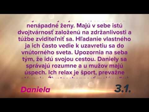 Dňa 3.1. oslavuje meniny DANIELA plus význam mena v 4K
