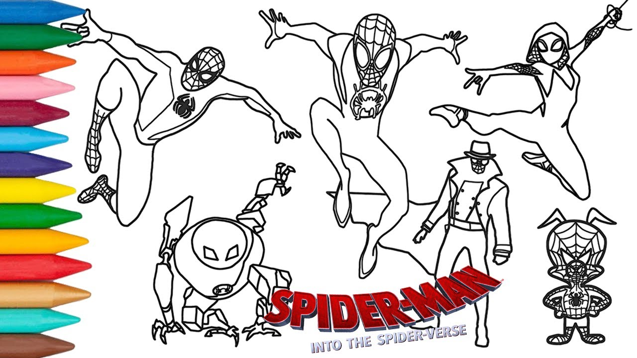 How To Draw Spider-Verse Characters  Spider-Man Into the Spider-Verse  Coloring Pages