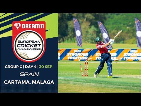 🔴 Dream11 European Cricket Championship | Group C Day 4 Cartama Oval Spain | T10 Live Cricket