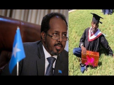 DAAWO MD Hore Somalia Xasan Sheikh Maxamuud oo Waxbarasho dibadda Master degree u balanq aaday ismaa