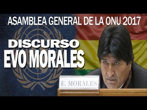 Fuertes Declaraciones de Evo Sobre EEUU en Asamblea 72 de ONU