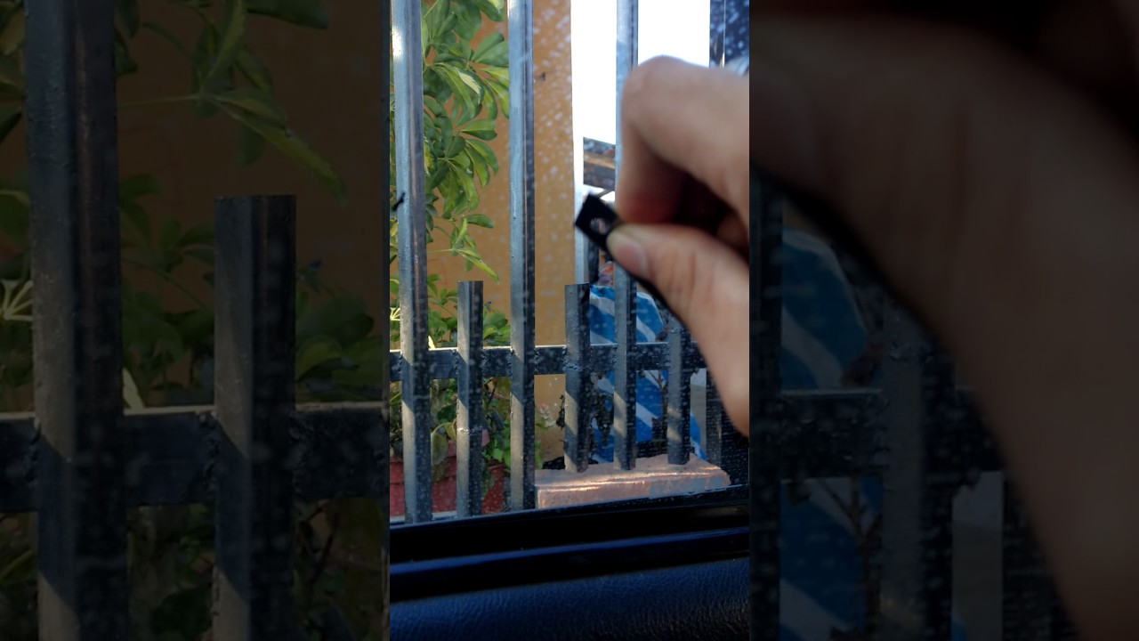 como sacar el pegamento del vidrio polarizado