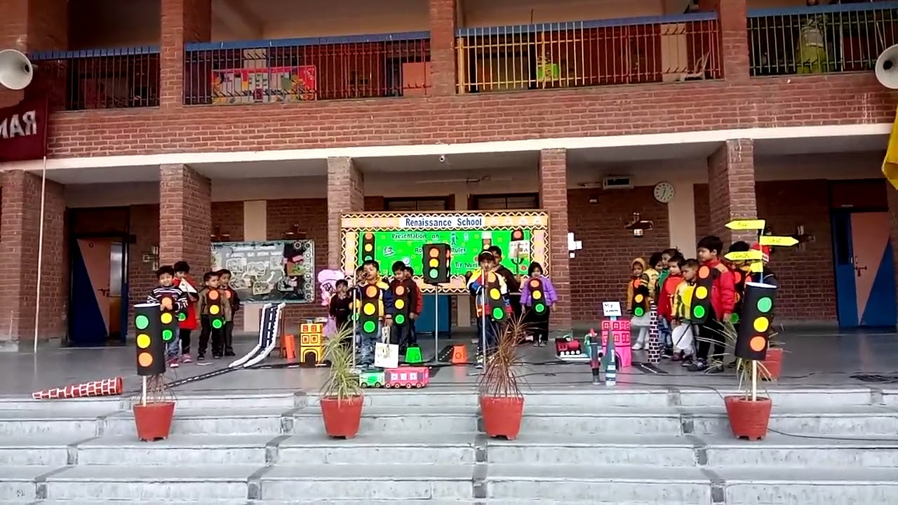 Safety Rules presentation by Nur Tulip students at Renaissance School,  Bulandshahr