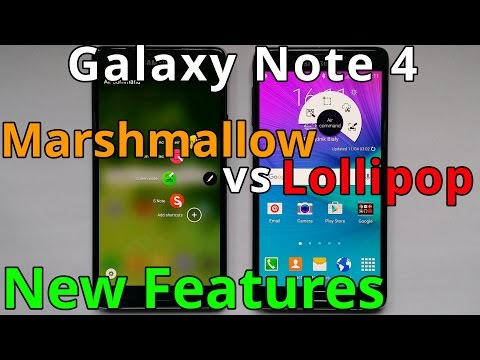 Samsung Galaxy Note 4 Marshmallow vs Lollipop