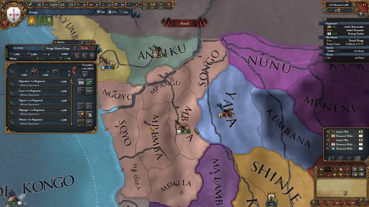 Europa Universalis 4 Kongo Episode 1 YouTube