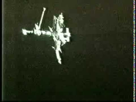 UFOs surround space station on STS-74 video