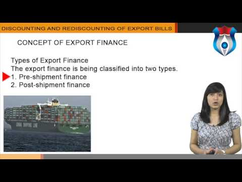 DISCOUNTING AND REDISCOUNTING OF EXPORT BILLS