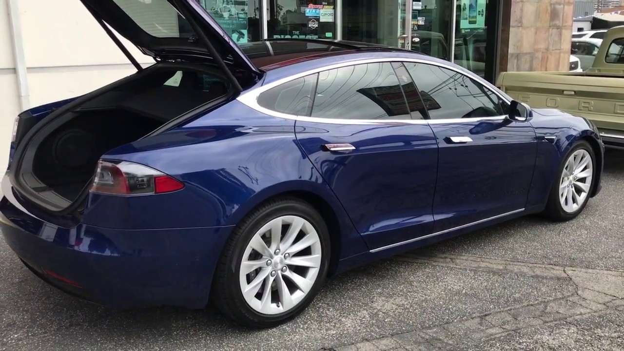 2017 Tesla Model S Metallic Blue 35 Ceramic Tint And Nvx