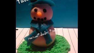 ♥ Como Hacer Un Muñeco De Nieve ♥ (porcelana Fría) Tutorial