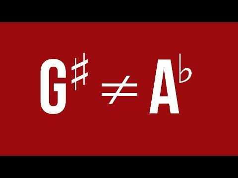 G Sharp and A Flat Are Not The Same Note - TWO MINUTE MUSIC THEORY #34