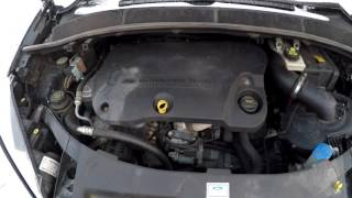 Ford S-Max 2.2 TDCi diesel engine very cold start  -15°C HD
