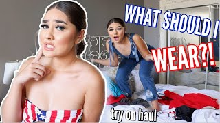 HELP ME CHOOSE MY 4TH OF JULY OUTFIT! ♡ Pretty Little Thing Try On Haul