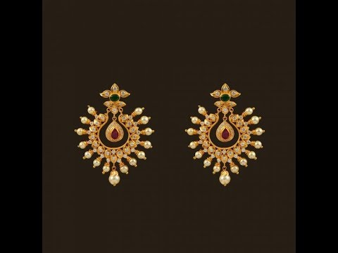 Latest Fresh Pearl Gold Earring Designs