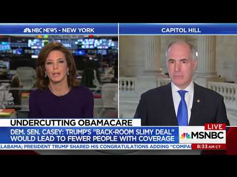 Senator Casey uncovers Trump Administration plan to undermine the ACA