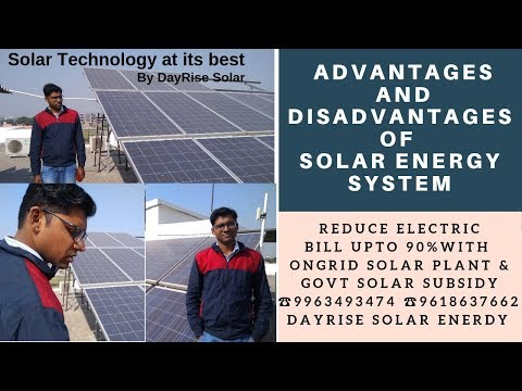 Advantages and Disadvantages of Solar Energy System - YouTube