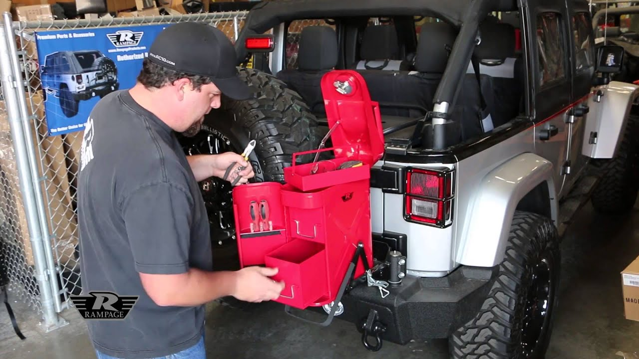 Rampage Products Utility Tool Box Trail Can Youtube