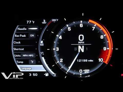 Lexus LFA Gauge Panel Demo at VIP Auto Salon