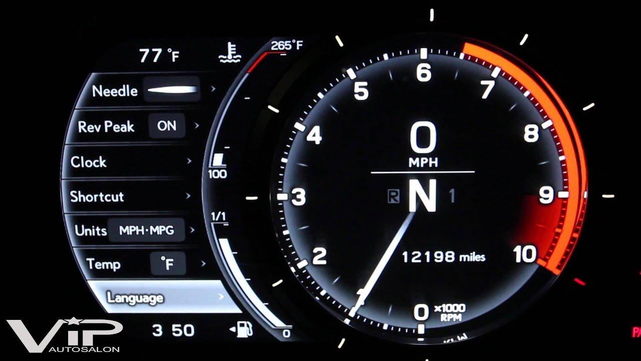 Lexus Lfa Gauge Panel Demo At Vip Auto Salon Youtube
